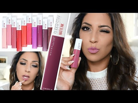KRASSE Neue DROGERIE LIPPENSTIFTE | Maybelline Superstay Matte Ink | IM LIVE TEST | Lippenswatches