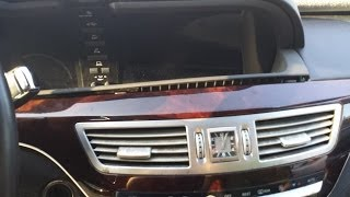 How to Remove Navigation Display & Cluster from Mercedes S550 2007 for Repair.