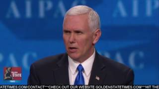 Vice President Mike Pence Speaks at AIPAC Regarding The Trump Administrations Commitment to Israel