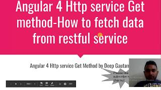 Angular 4 Http Service Example Get method  How to fetch data from restful service