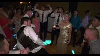 Lindsay and Taher's Groomsmen dance at Lone Palm in Lakeland, FL