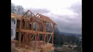 preview picture of video 'Timber Frame Raising in Canandaigua, New York'