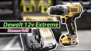 Dewalt 12v Extreme Hammer drill Unboxing/Test