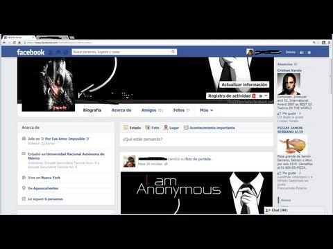 Como cambiar el color y el fondo de Facebook sin descargar nada 2013 Loquendo  [HD]