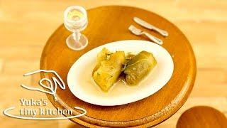 "Mini Food: Tiny Edible ""Cabbage Rolls"" 本当に食べられるミニチュア料理/ロールキャベツ #20   Yuka's Tiny Kitchen"
