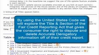 Truth About Credit Repair - United States Code for Credit Repair | Title 15 U.S.C. § 1681g(c)(2)(E)