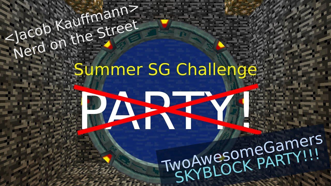P̶a̶i̶n̶t̶b̶a̶l̶l̶ ̶P̶a̶r̶t̶y̶ SKYBLOCK PARTY!!! (TwoAwesomeGamers!)