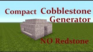 Minecraft Tutorial - Zero Loss Cobblestone Generator