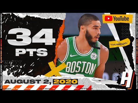 Jayson Tatum 34 Points 8 Ast Full Highlights | Celtics vs Trail Blazers | August 2, 2020