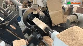 Dùng máy tiện gỗ CNC để tiện chân tủ | WM-1500ASL