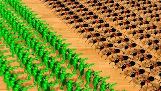 Defending our House with Green Army Men Against a Swarm of Ants in Home Wars!