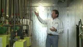 Insulating the Pipes and Walls of a Boiler Room
