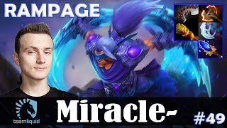 Miracle - Anti-Mage Safelane | RAMPAGE | Dota 2 Pro MMR Gameplay #49