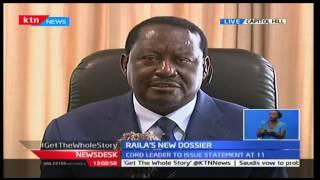 KTN News Desk: CORD leader Raila reveals a plot by Jubilee of desertification of Kenya, 10/10/16