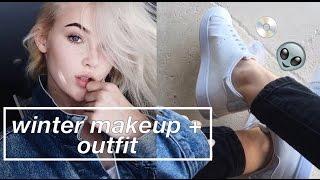 WINTER MAKEUP & OUTFIT (California Winter) | okaysage