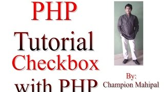Learn PHP Tutorial 31 Get checkbox value using PHP