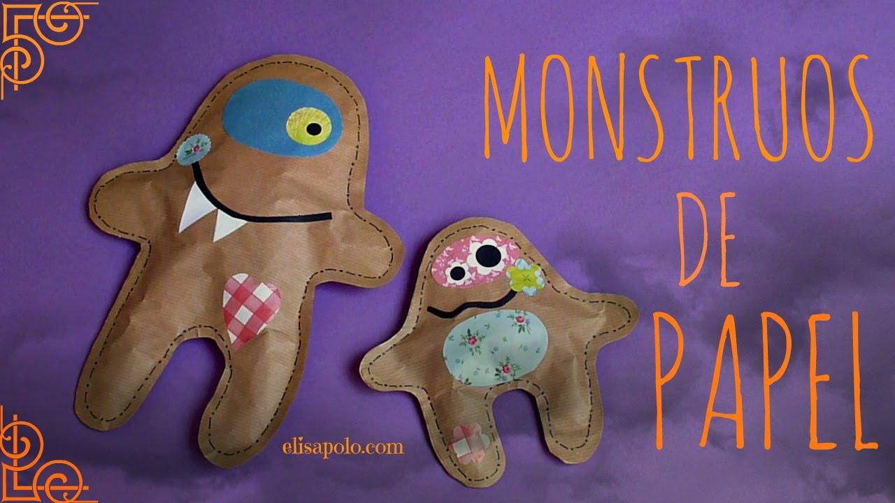 Cómo hacer Monstruos de Papel, Decoración para Halloween /Día de los Muertos