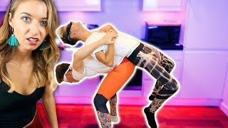 ULTIMATE COUPLES YOGA CHALLENGE! (BLINDFOLDED)
