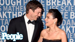 """Mila Kunis & Ashton Kutcher Say They Only Bathe Their Kids When """"You Can See the Dirt"""" 