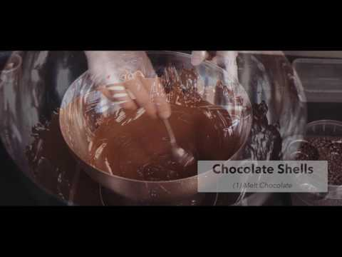 Chocolate Shells Using Special Ingredients Crackle Crystals