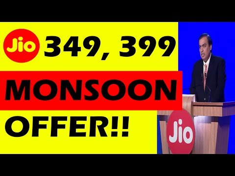 JIO Monsoon OFFER Launched | 349, 399 JDDD New Plans | Free 4G Data Again For 3 Months | ShoutMe360