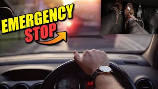 Emergency Stop Driving Lesson!