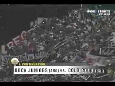 """GARRA BLANCA - COPANDO LA BOMBONERA"" Barra: Garra Blanca • Club: Colo-Colo • País: Chile"