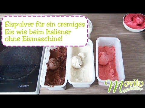 Eispulver/Eisbasis für ein cremiges Eis wie beim Italiener. Ohne Milch, Fett oder Sahne.