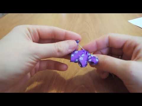 Цветы из атласных лент / Атласные резинки для волос своими руками Канзаши мастер класс