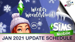 The Sims Mobile ❄️⛄️| JAN 2021 UPDATE | Winter Wonderland | 🎉 (Early Access) 🔑