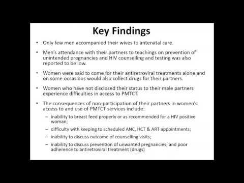 Male involvement in PMTCT in Enugu State, Nigeria