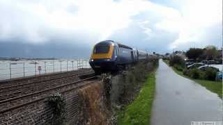 preview picture of video '43190 and 43342 FGW at Starcross with a vibrant sky'