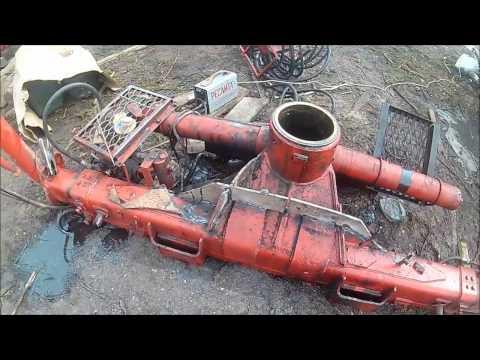 Работа на выезде, ремонт поворотной колонны гидроманипулятора.
