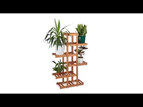 Blumenregal aus Holz Honigbraun