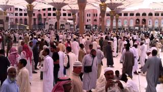 preview picture of video 'After Jumma Salah at Al-Masjid al-Nabawi in Medina'