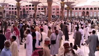 preview picture of video 'After Jumma Salah at Al-Masjid al-Nabawi in Medina'