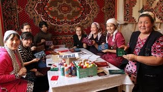 Local women in Uzebkistan are using the embroidery of their culture to