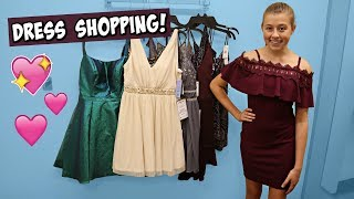 Dress SHOPPING With Mom For Her First High School Dance! Homecoming 2019