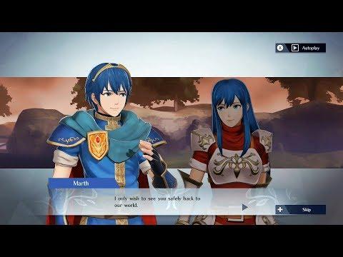 Fire Emblem Warriors - Marth & Caeda Support Conversation