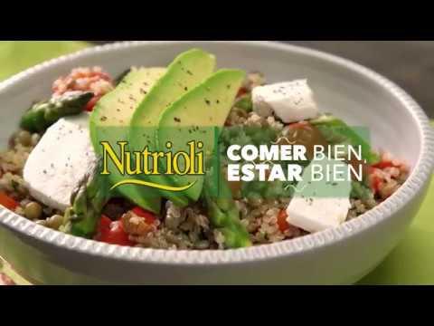 Ensalada de quinoa, lentejas y espárragos  | Nutrioli