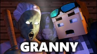 GRANNY IN MINECRAFT! Horror Game ANIMATION - Day 1