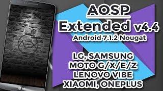 ✹INSTALANDO A ROM  #AOSP EXTENDED #AndroidPuro7 1 2   Moto