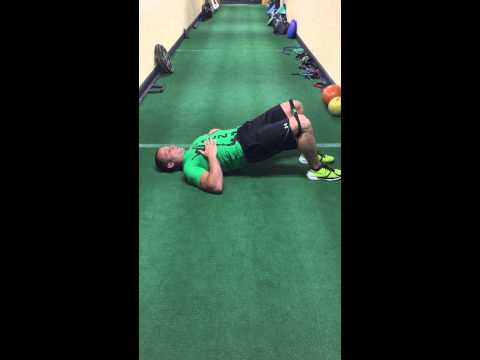 Tumbling Loop Glute Bridge with Abduction