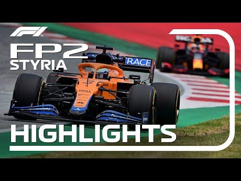 F1第8戦オーストリアGPのFP2ハイライト動画