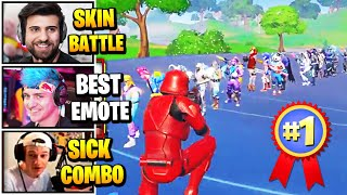 Streamers Host BIGGEST Skin & Emote Contest | Fortnite Daily Funny Moments Ep.490