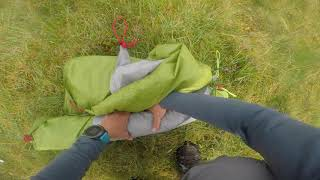 Midge attack. Taking the Jack Wolfskin Gossamer tent down in a emergency p1