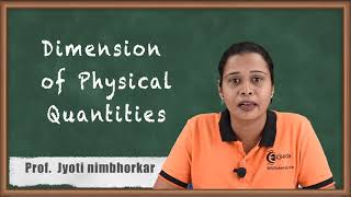 Dimension of Physical Quantities - Units and Measurements - Diploma Physics 1