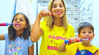 This Is The Way Brush Your Teeth Song I Nursery Rhymes for Kids