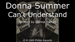 Donna Summer - Can't Understand LYRICS - HQ 1969