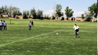 Wall parts to give ball a straight shot to goal